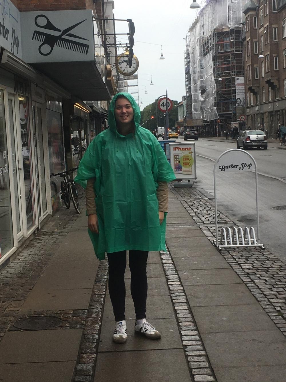 Kauf eines Regencapes wird empfohlen