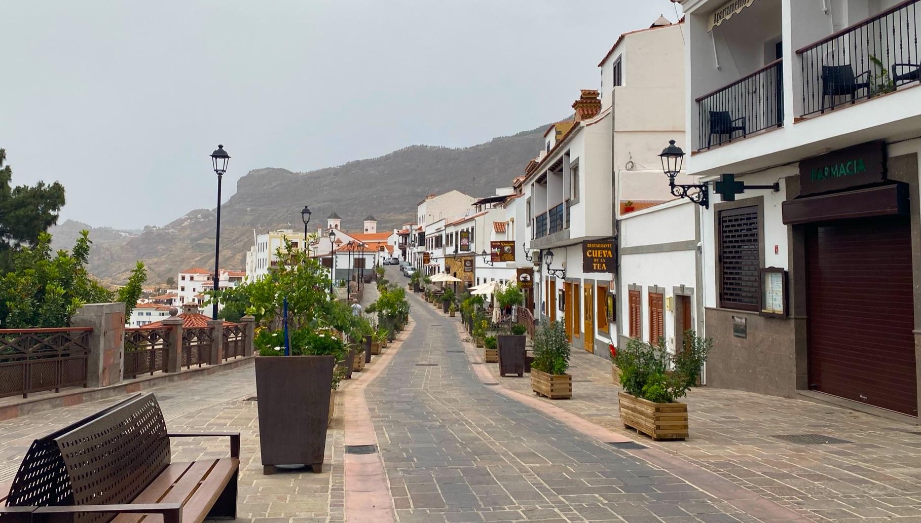 Blick in den Ort Tejeda