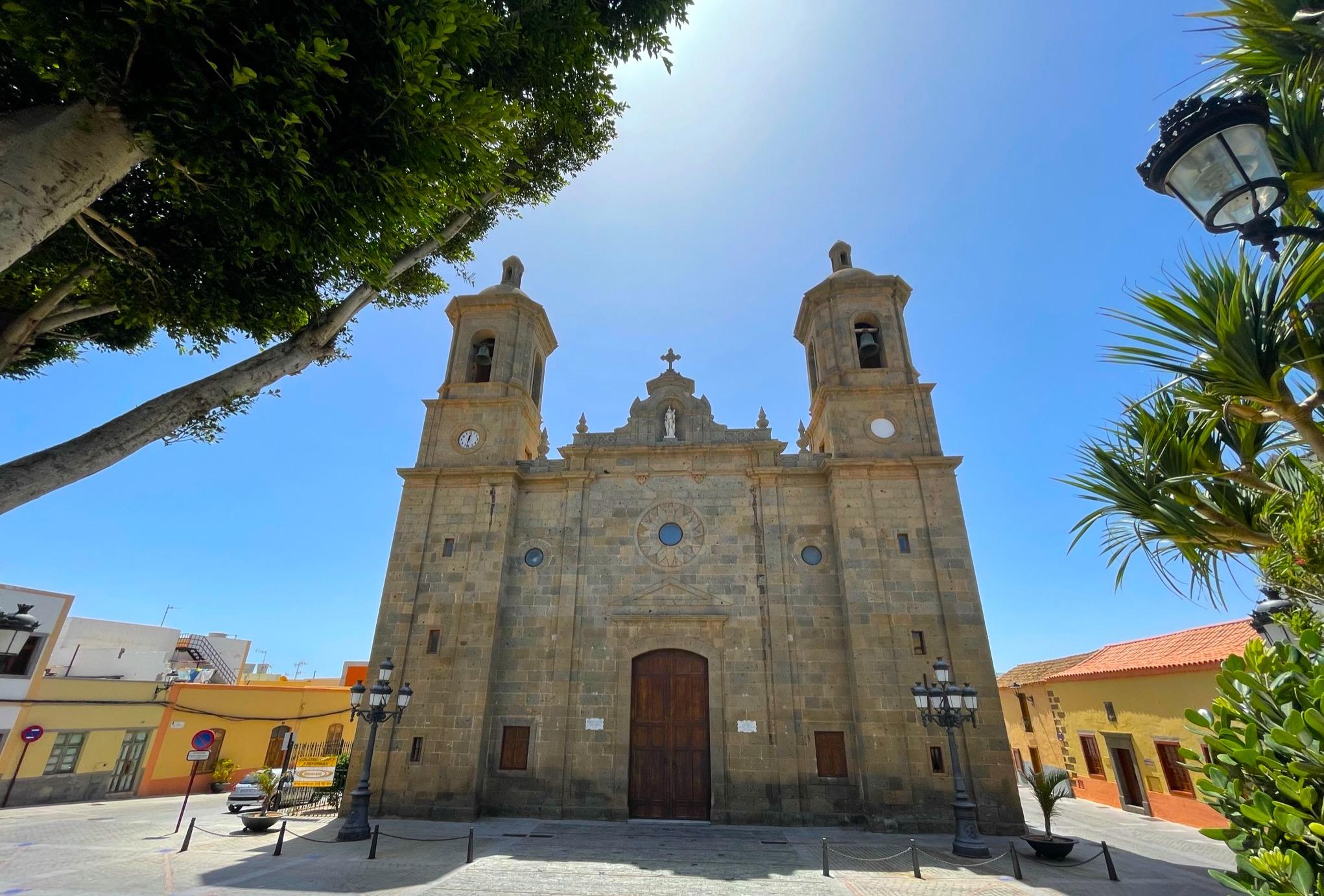 Kirchplatz und Kathedrale in Agüimes, Gran Canaria