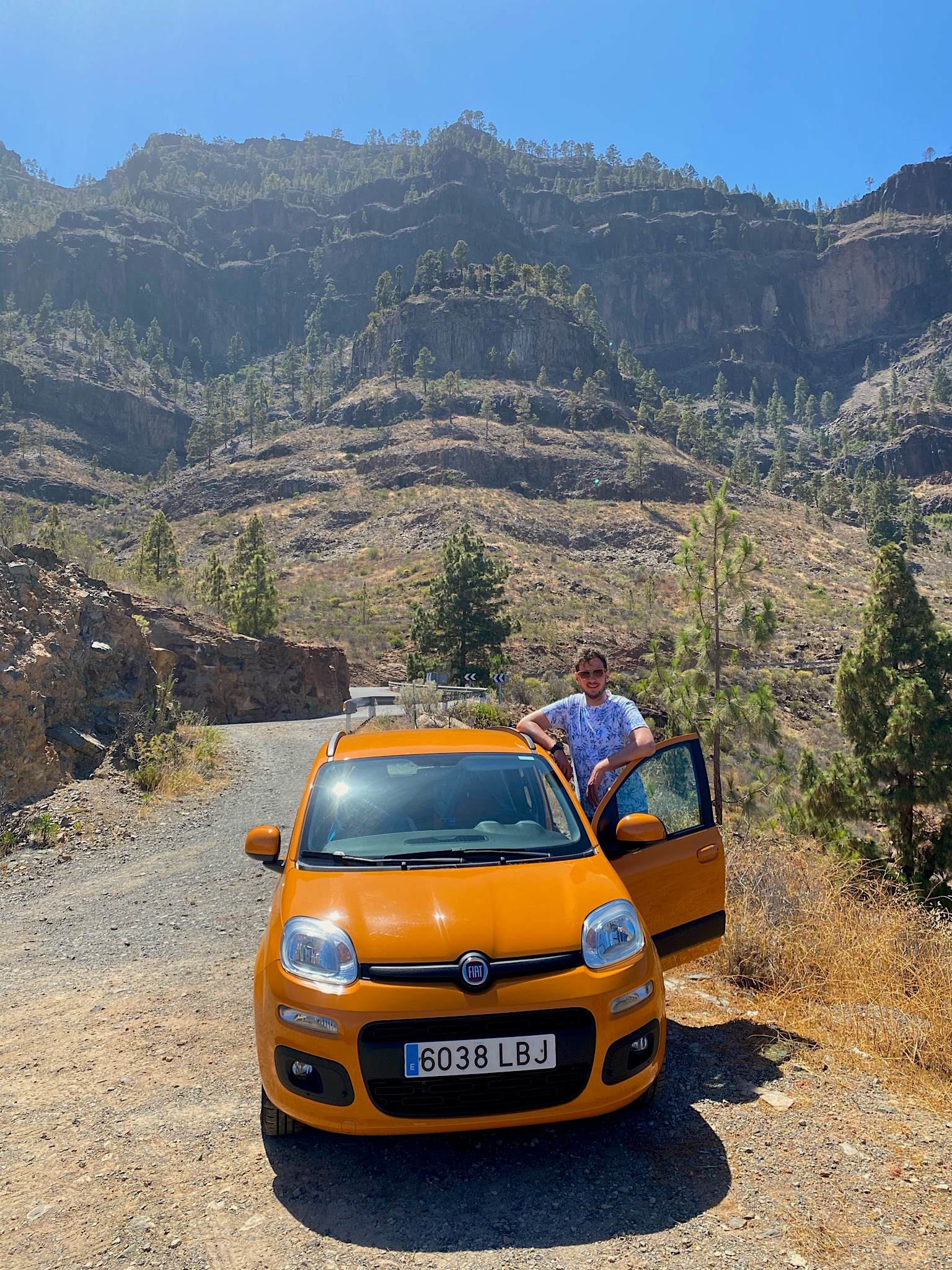"""Malte und """"unser"""" Fiat Panda auf Gran Canaria"""