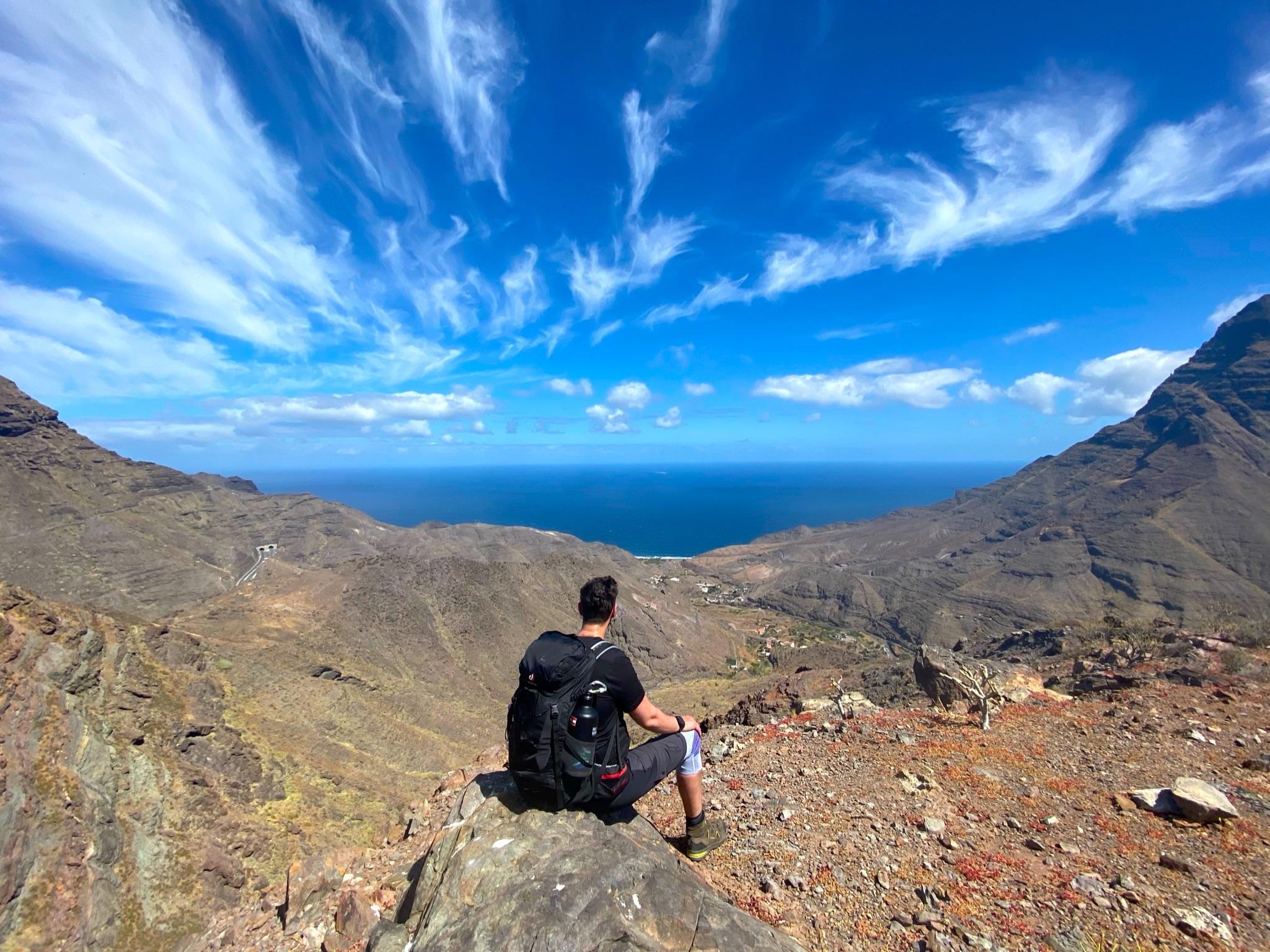 Ausblick auf das Tal von El Risco