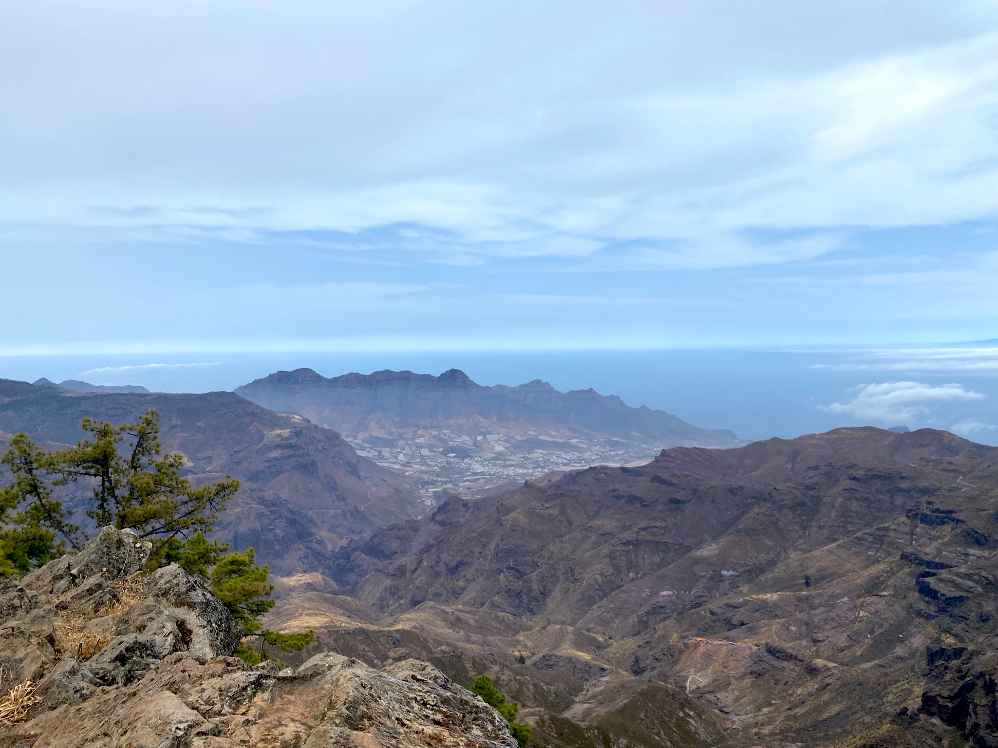 Ausblick bei der Wanderung zum Altavista