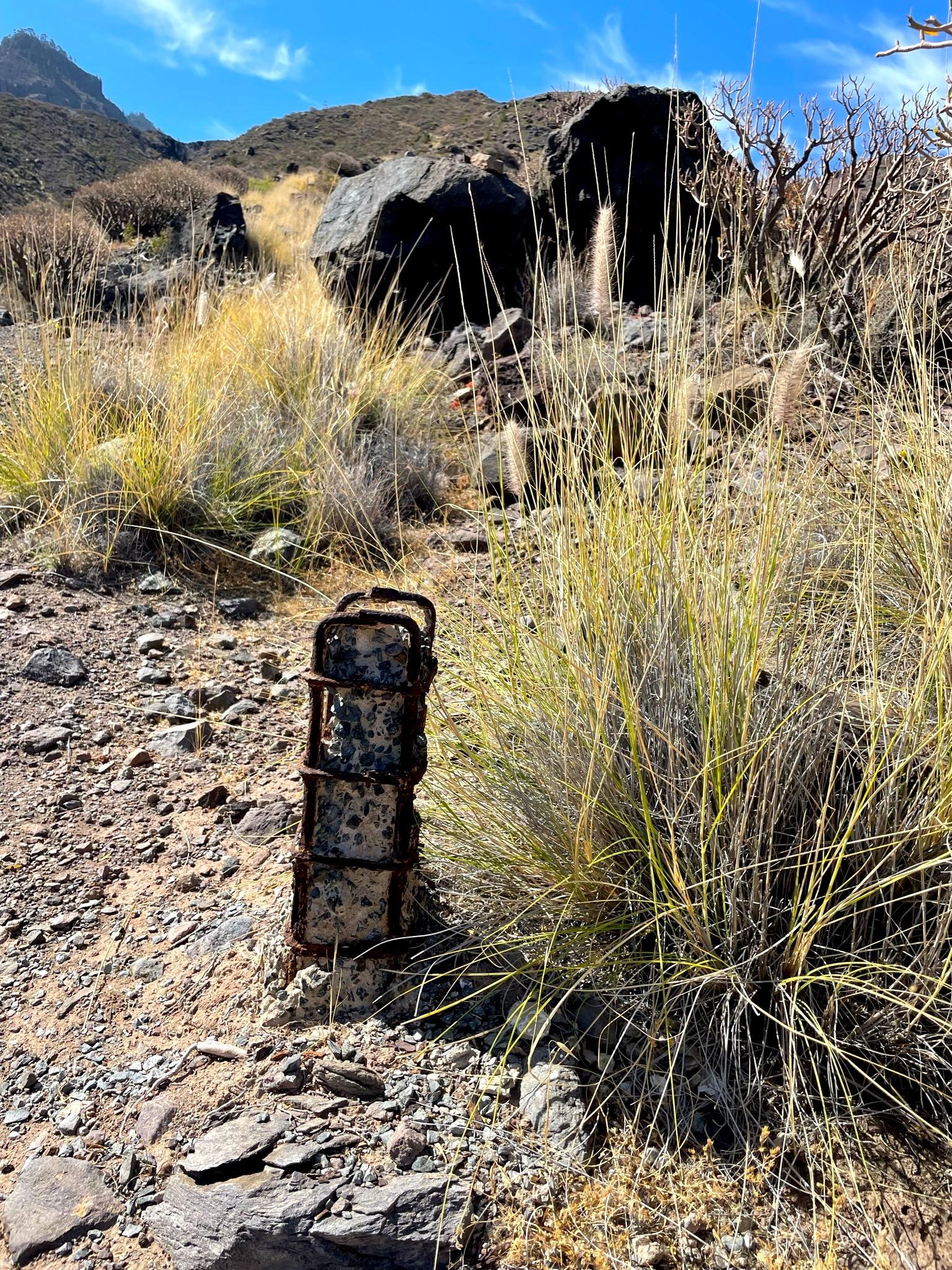 Wegmarkierung im Tamadaba Nationalpark