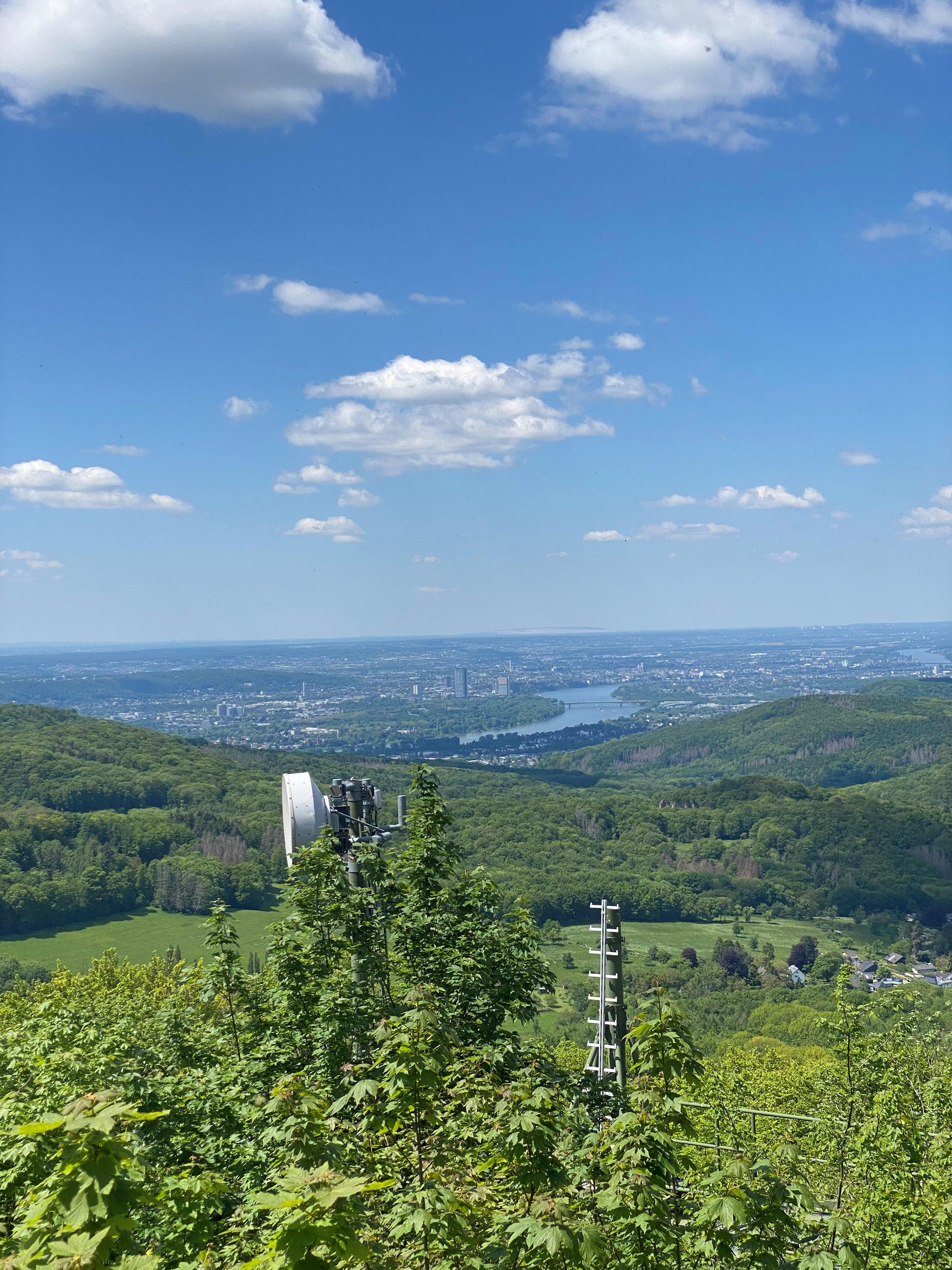 Blick vom großen Ölberg in Richtung Bonn