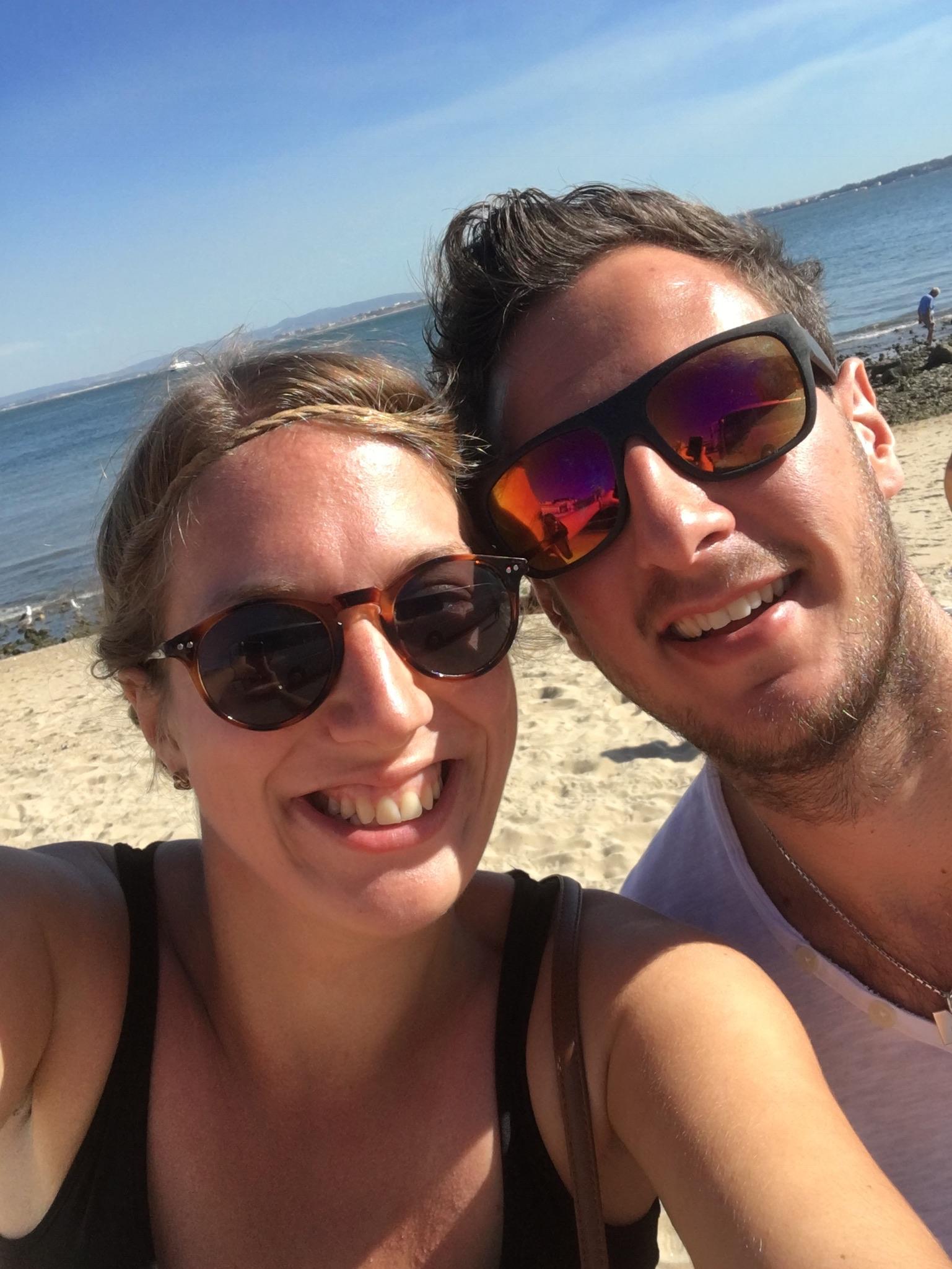 Nina Nina und Malte am Strand in Cascais