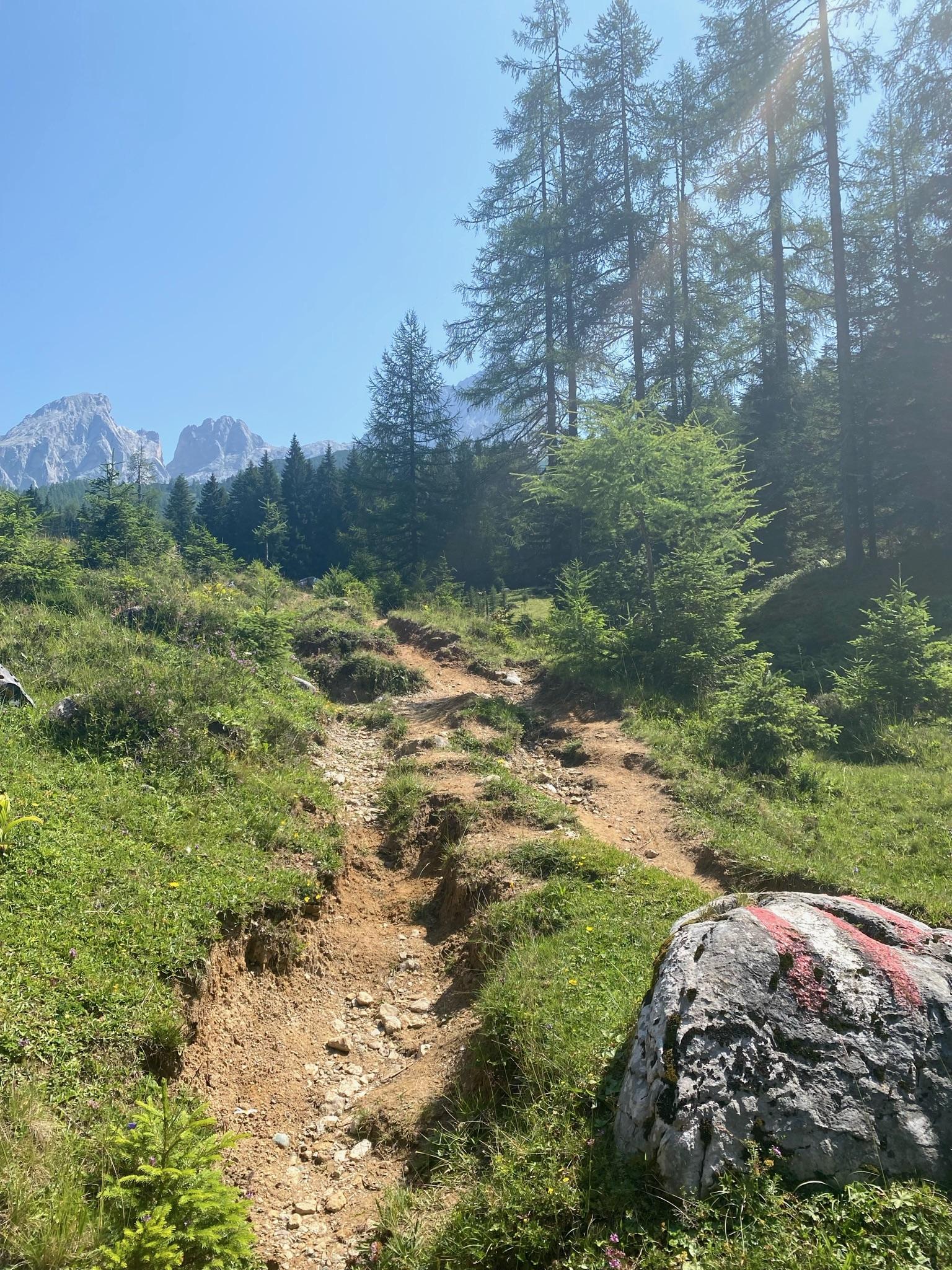 Start in die Hüttenwanderung auf dem Sulzenalmenweg