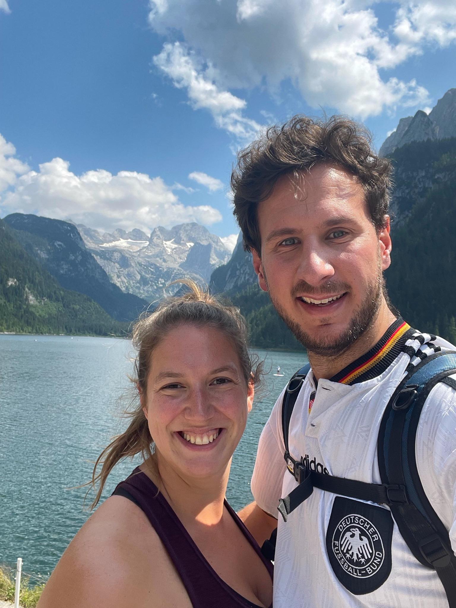 Blick auf den Gosausee und die Dachsteine Alpen