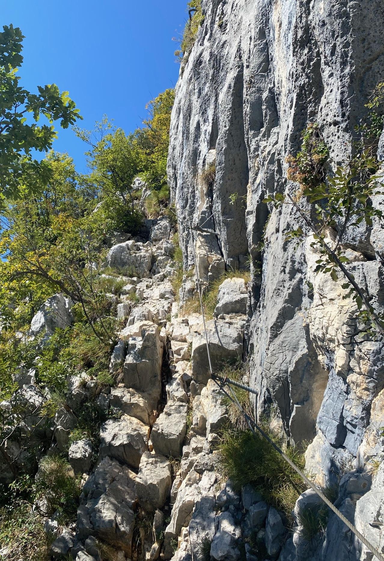 Einstieg in den Klettersteig Mario Foletti